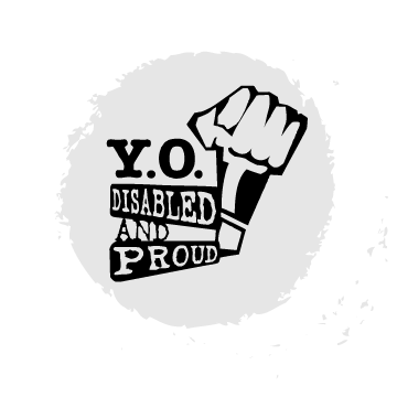 Logo for YO! Disabled and Proud.
