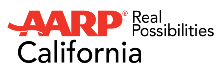 Logo for AARP California.
