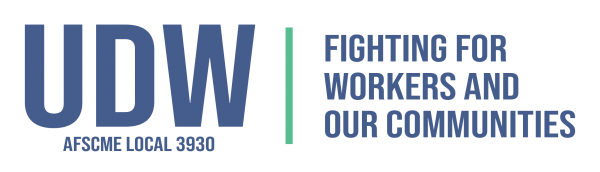 Logo for UDW AFSCME Local 3930. Fighting for workers and our communities.